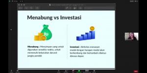 """Sesi Pematerian Seminar Kewirausahaan Saving """"Save The Future with Investing"""" 2021"""